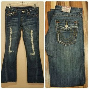 True Religion Section 503  Destroyed Jeans Sz 25